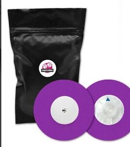 UNIVERSAL patches (tapes) also for FreeStyle Libre PURPLE (5pcs pack; with hole)
