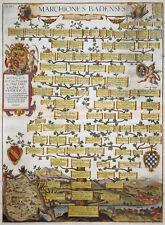 ALBIZZI BADEN WÜRTTEMBERG ADEL WAPPEN MARCHIONES BADENSES KARTE DURLACH 1612