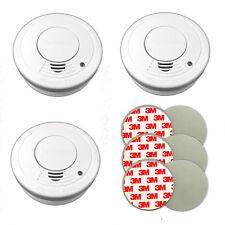 3er Set Rauchmelder inkl. Magnet Klebepads | Feuermelder 85db | Rauchwarnmelder