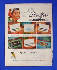 Sheaffer'S Pen Sets Vtg 1953 Color Ad Jackie Gleason Snorkel Fountain Lane Chest