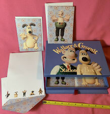 WALLACE & GROMIT Nick Park Stationary Set Box 18  Sheets 6 Cards 90s Claymation