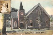 Baptist Church, Longview, Texas ca 1910s Vintage Hand-Colored Postcard