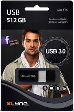 Xlyne USB Stick 512GB Speicherstick WAVE schwarz USB 3.0
