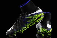 New Nike Hypervenom Phantom II FG Soccer Cleats ACC Boots Black/White/Volt-Blue