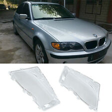 For BMW E46 3 Series 2001-2006 Polycarbonate Headlight Glass Lens Lamp Cover 2pc
