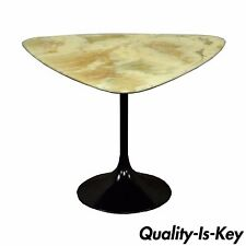 Vintage Mid Century Modern Resin Metal Tulip Base Saarinen Style Side Table B