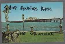 NORTH CAROLINA postcard 1960's NEUSE RIVER BRIDGE New bern NC Ocean Highway 17