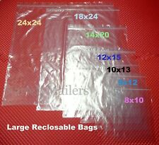 LARGE Reclosable Seal-Top Clear BIG Clothing Merchandise Storage Bags