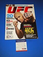 DANA WHITE UFC PRESIDENT SIGNED 1st ISSUE OF UFC MAGAZINE psa/dna 2009