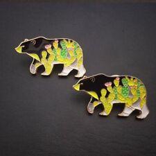 Bear Shape Lovely Fashion Jewelry Badge Enamel Brooch Denim Jacket Collar Pin