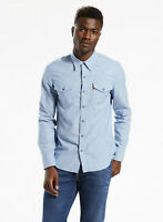 Levi's WellThread x Outerknown Men's Classic Western Shirt Blue $128 NEW L