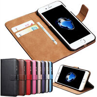 For Apple iPhone 11 Leather Case New Luxury Flip Card Real Wallet Phone Cover