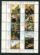 Nederland velletje V 1826 - 1835 postfris  17e eeuwse kunst