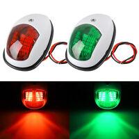 2x LED Navigation Lights Red Green for Port/Starboard Marine/Boat/Yacht Nav HM