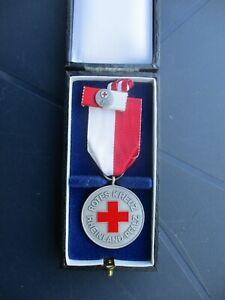 Auszeichnung DRK Rheinland-Pfalz, Rotes Kreuz, Orden mit Bandspange und Etui