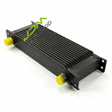 15 Row Oil Cooler AN-10 Aluminum Engine Transmission 10-AN Black Universal