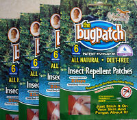 BUG PATCH VIT B1 MOSQUITO/TIGER MOSI  REPEL PATCH** 6 - 60 PATCHES* YOU CHOOSE!!