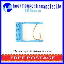 100 x 1/0 Circle / Mustu Fishing Hooks Sport Tackle Bulk Octopus Beak