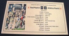 REAL MADRID UEFA Champions 2014 Gold Plaque