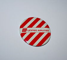 2 Vtg Tin Litho 1960-70s United Air Airlines Striped Child Passenger Button Pin