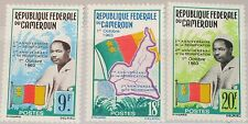 CAMEROUN KAMERUN 1963 395-97 389-91 2nd Ann Reunification Map Flag President MNH