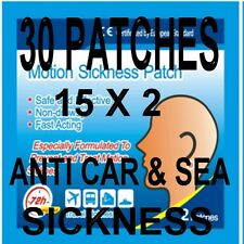 30  ANTI TRAVEL SICKNESS PATCHS  HELPS PREVENT SEA  CAR  PLANE  100% DRUG FREE