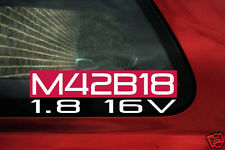 M42B18 1.8 16v sticker for BMW e30 318is / e36 318is m42