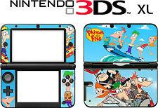 Nintendo 3ds Xl 3dsxl 3 Ds Xl Phineas Y Ferb Vinilo Piel Decal Sticker