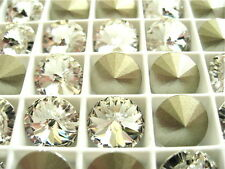 6 Clear Crystal Foiled Swarovski Crystal Rivoli Stone 1122 47ss 10mm