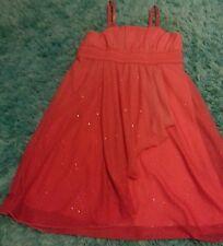 BCX girl dark peach sparkly dress