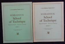 Lot (n°7) Partitions /Méthode x2 recueils (PIANO -SCHRADIECK SCHOOL OF TECHNIQUE