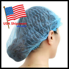 100Pcs Disposable Head Cover Mob Cap Hat Hair Net Non Woven Anti Dust Proof Hats