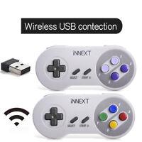 1/2X SNES Wireless Controller Gamepad + USB Receiver For PC MAC Raspberry Pi