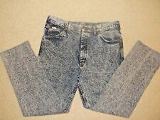 LEE Mens Jeans Acid Wash Vintage 80's LEE STORM RIDER USA MADE 36 X 28 1/2 READ