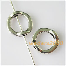 15 New Round Circle Frame Charms Tibetan Silver Tone Spacer Beads 13mm