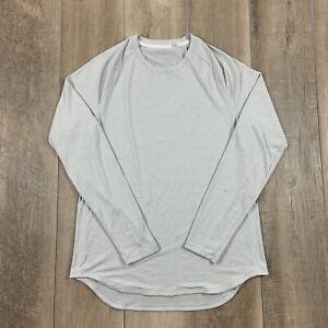 Lululemon Athletic Shirt Long Sleeve Gray Activewear Men's Size Large