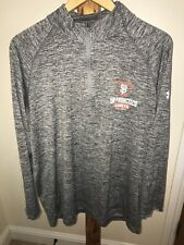 Men's Under Armour Heat Gear SF San Francisco Giants LS Shirt XL 1/4 Zip Grey