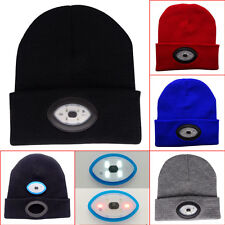 6 LED Knitted Hat Rechargeable Headlamp Hat Knitted Beanie Cap Hunting Camping