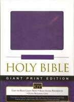 Holy Bible Giant Print KJV Grape Leathersoft (King James Version) - VERY GOOD