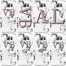 DYEFOR PERSONALISED PURPLE MARBLE INITIALS PHONE CASE COVER FOR SAMSUNG GALAXY