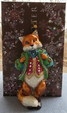 Jay Strongwater Jubilee Fox Ornament Swarovski Elements New with Box