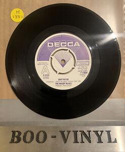 "THE MOODY BLUES 7"" DRIFTWOOD PROMO VINYL RECORD DECCA F13809 Ex+ RARE"
