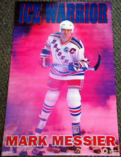 Mark Messier ICE WARRIOR New York Rangers 1992 Costacos Brothers NHL POSTER