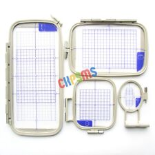 4Piece Embroidery Hoop Set fit for Brother PE770,NV780D,F440E,PE830DL,NS2750D+