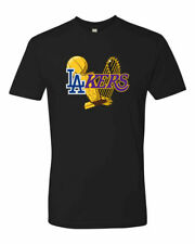HOT Los Angeles Dodgers Lakers 2020 World Champions Trophy Custom Unisex T-Shirt