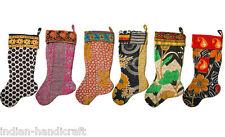 "20 Christmas stockings 22""x9"" Wholesale Handmade Vintage Kantha"