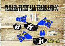 YAMAHA YZ YZF 85 125 250 450 FULL GRAPHICS KIT-MX -DECALS-STICKERS-MX1