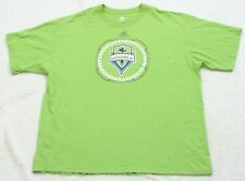 Adidas Seattle Sounders FC Men's Green XL X-Large T-Shirt Top Crewneck Solid G13