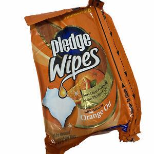 Pledge Wipes Orange Oil Anti Dust Formula 18 Pcs