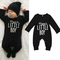 EG_ Mom's Little Boy Print Newborn Infant Baby Boy Romper Jumpsuit Clothes Witty